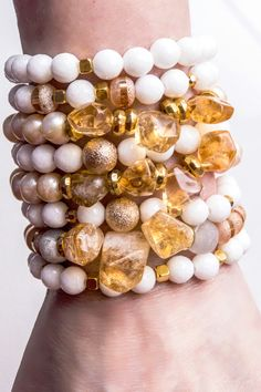 Citrine & Pearl Bracelets • Part of the Spring Collection of Cactus Blues Boutique.  Up on their website March 15 - don't miss out!!