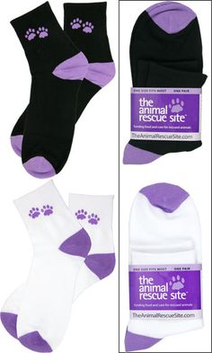 Purple Paw Casual Socks  Item #33337  Funds 14 bowls of food.