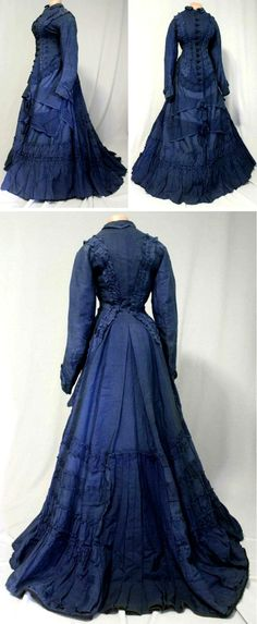 HISTORICAL BLUE & TURQUOISE DRESSES