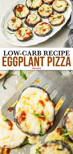 Have you ever heard of anything as genius as using eggplant slices as the dough for your pizza This low-carb Eggplant Pizza recipe will blow you away Eggplant Pizza Recipes, Fun Pizza Recipes, Eggplant Pizzas, Low Sugar Recipes, Healthy Low Carb Recipes, Low Carb Dinner Recipes, Appetizer Recipes, Diet Recipes, Lunch Recipes
