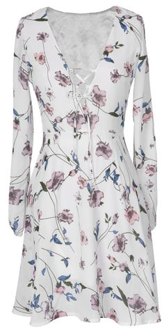 It's a time to slip into something sweet more comfortable. This strappy dress with floral printing and long sleeve is a perfect option for easy season. See the full collection at Cupshe.com !