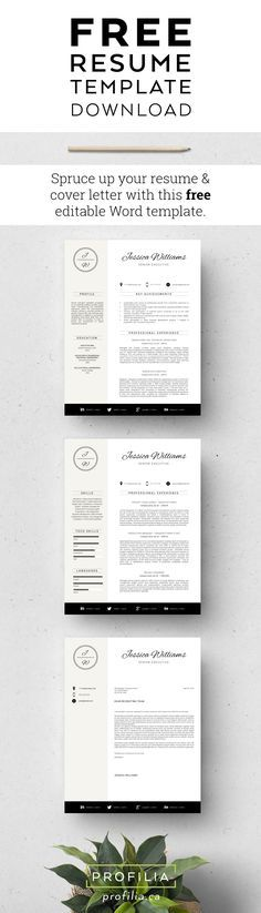 Resume template, Cv template, Professional resume template, Resume - free resume and cover letter templates