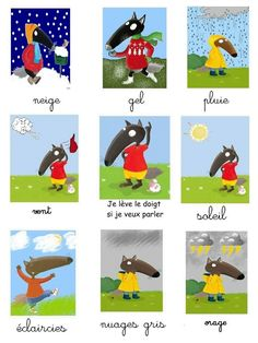 P tit Loup Wetter Collage Petite Section, Nursery Bookshelf, French Language Lessons, Autism Activities, Wolf, Nursery School, 1st Day, Cycle 3, Montessori