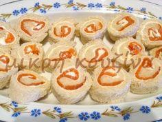 Ρολάκια σολομού με τυρί κρέμα