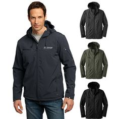 Promotional Port Authority® Textured Hooded Soft Shell Jacket (Q793776)