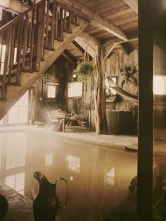 private spa ( Pretty Cozy, I could enjoy this type of setting in a Log cabin somewhere in the North Carolina mountains. Boone/Valle Crucis..)