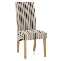 Roma Dining Chair Oak & Stripe