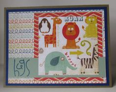 My Mind's Eye Alphabet Soup Boy. Hugs card. Paper Smooches stamp. Operation Write Home sketch #56.