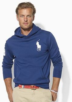 Ralph Lauren | Ralph Lauren Polo Longsleeved Beach Fleece Hoodie in Blue for Men ...