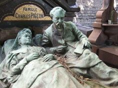 Elaborate Gravestone In Paris,. is listed (or ranked) 4 on the list Weirdly Fascinating And Bizarre Gravestones From Around The World Cemetery Monuments, Cemetery Statues, Cemetery Headstones, Old Cemeteries, Cemetery Art, Graveyards, Pigeon, Images Terrifiantes, Unusual Headstones