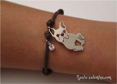 French Bulldog Fan Bracelet by MyBulldogJewel on Etsy, $49.00