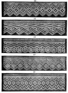 knitted lace edgings Set 3 PDF 5 Victorian patterns by KnittyDebby #afs #knitting patterns by hang.t.nguyen.773