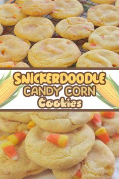 Snickerdoodle Candy Corn Cookies are perfect to make as Halloween treats or just for a delicious and easy to make snacks. Watch how I made this in the video using cake mix! Snickerdoodle Candy Corn Cookies are perfect to make as Halloween Thanksgiving Desserts Easy, Great Desserts, Fall Desserts, Dessert Ideas, Easy To Make Snacks, Food To Make, Candy Corn Cookies, Vegetarian Cake, Microwave Recipes