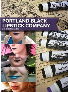 Portland Black Lipstick Company | 10 Cult Beauty Brands On Etsy You Had No Idea Existed (via BuzzFeed)
