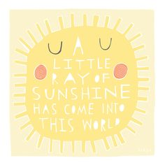 A Little Ray Of Sunshine Greeting Card 170C by FreyaArt on Etsy