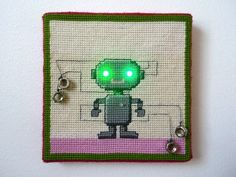 led-needlepoint-robot