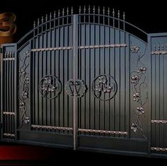 House Main Gates Design, Front Gate Design, Door Gate Design, Main Door Design, Fence Design, Aluminium Gates, Metal Gates, Wrought Iron Gates, Steel Gate Design
