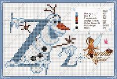 Dot Magic: Monogram Frozen + graphics with phrases Olaf !!!