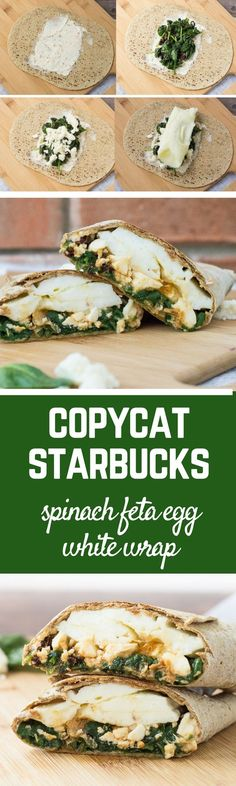 Make a copycat Starbucks Egg White Wrap with Spinach and Feta. So easy and you can't beat the flavor! Filling and satisfying, it is the perfect breakfast. Get the recipe on http://RachelCooks.com! #sponsored /flatoutbread/