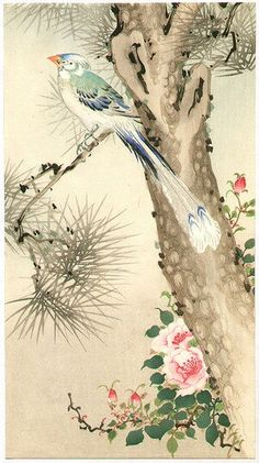 Artist:Unknown Title:Paradise Bird on Pine Date:1900-1920s.