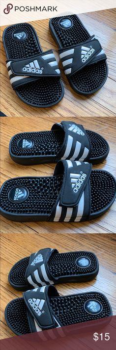 a3c2ffb50b79 adidas Black White  Size 12  Sandals Good condition Light ear. Please  review pics. Size  12 adidas Shoes Sandals   Flip Flops
