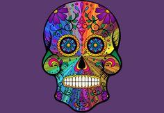 #skull #sugarskull #retro #Psychedelic #calavera #colourful #floral #ornamental #DBH #designbyhumans #Tees #shirts #Tshirts #hoodies #tanktops #phonecases #art #design #trending #fashion #DesignByHuman Art Design, Graphic Design, Phone Covers, Sugar Skull, Psychedelic, Retro, Floral, Artwork, Clothing
