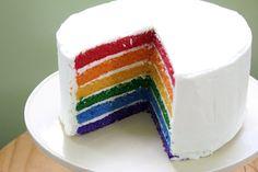 Rainbow layered cake