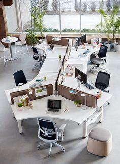 Open Office Design, Industrial Office Design, Corporate Office Design, Office Furniture Design, Office Interior Design, Office Interiors, Bureau Open Space, Office Floor Plan, Creative Office Space
