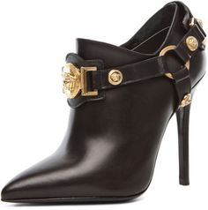 Versace Harness Bootie in Black