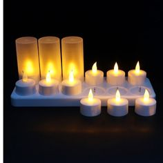 12 LED Night Rechargeable Flameless Candle Light For Xmas Party -- You can find out more details at the link of the image.