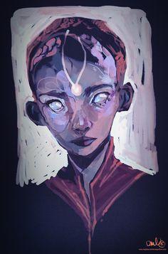 white-eyed , Maja-Lisa Kehlet on ArtStation at https://www.artstation.com/artwork/white-eyed
