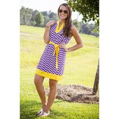 Mud Pie Touch Down To Down Town-Purple And Yellow Dress