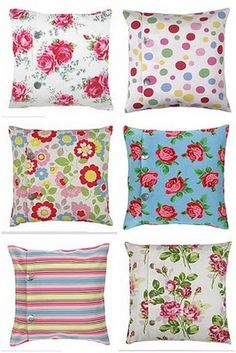 Cath Kidston pillows.... (PS: I just love Cath`s books and her decorating ideas too...)