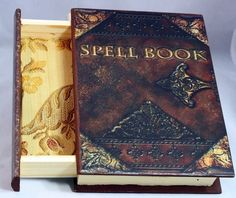 Spell Book - Book Jewelry Box - Spell Book Wooden Box - Harry Potter - Spell…