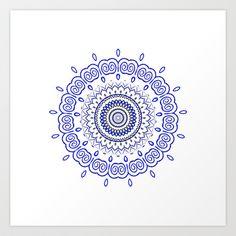 MandALA  Art Print by Monika Strigel - $19.00