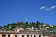 The Dancing Angel in Quito, Ecuador. What a great image to see everyday.