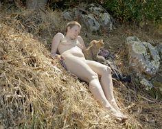 Katy Grannan  Reese (with Nursing Cats), Tilden Park, 2005, pigment print