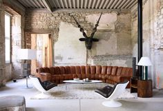 De Sede leather sofa