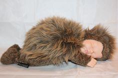 "Anne Geddes 1998 Sleeping Baby Hedgehog Soft Plush Stuffed Doll Large 17"" RARE  #AnneGeddes #Dolls"
