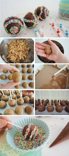 Cake pops paso a paso #cakepops #candybar #popcakes