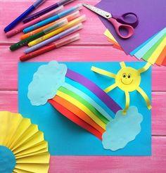 Для ВАС, РОДИТЕЛИ!(дети) Craft Activities, Preschool Crafts, Fun Crafts, Craft Work For Kids, Diy For Kids, Hand Crafts For Kids, Toddler Crafts, Rainbow Crafts, Art Drawings For Kids