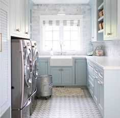 Maybe I would do the laundry if I had a laundry room like this! Source: The Well Dressed House Instagram