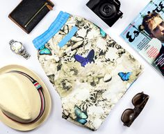 BUTTERFLY SHORT STYLE GUIDE | Featuring Esquire Magazine, Havaianas, Mulberry, LRG True Heads, Raybans, Sony & Torgoen | Shop the collection at thomasroyall.com Tropical Colors, Esquire, Ss 15, Swim Shorts, Workout Shorts, Style Guides, Sony, Digital Prints, Butterfly