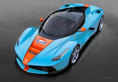 Limited edition LaFerrari Gulf Racing - Color concept by Alexis Godschalk via Flickr