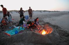 Beach fire. Outer Banks.
