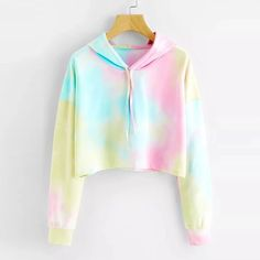 Cropped Sudaderas Mujer FeiTong Hooded Sweatshirt Women Long Sleeves R – liilg. Vêtements Ados Cropped Sudaderas Mujer FeiTong Hooded Sweatshirt Women Long Sleeves R – liilg. Girls Fashion Clothes, Teen Fashion Outfits, Mode Outfits, Outfits For Teens, Girl Outfits, Fasion, Fashion Dresses, Tie Dye Shirts, Tie Dye Hoodie