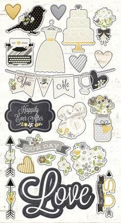 Chipboard Stickers   Simple Stories