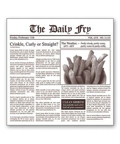 Another great find on #zulily! Newsprint French Fry Paper #zulilyfinds