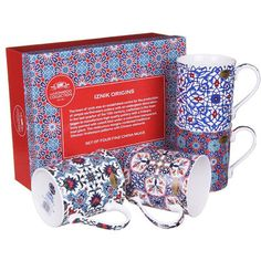 Check this out!! The Kitchen Gift Company have some great deals on Kitchen Gadgets & Gifts Iznik Origin Mug Set - Set of 4 #kitchengiftco