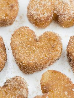 French Toast Churro Bites in heart shapes is cute idea if you need quick and EASY BREAKFAST Recipe